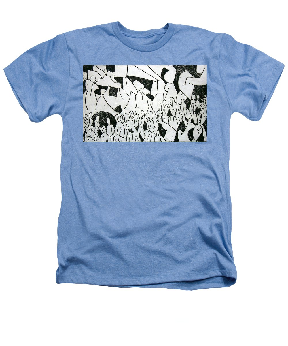 Etching Heathers T-Shirt featuring the print Crowd by Thomas Valentine