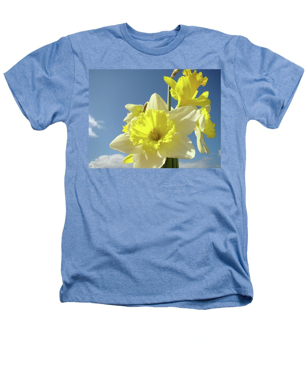 �daffodils Artwork� Heathers T-Shirt featuring the photograph Daffodil Flowers Artwork Floral Photography Spring Flower Art Prints by Baslee Troutman