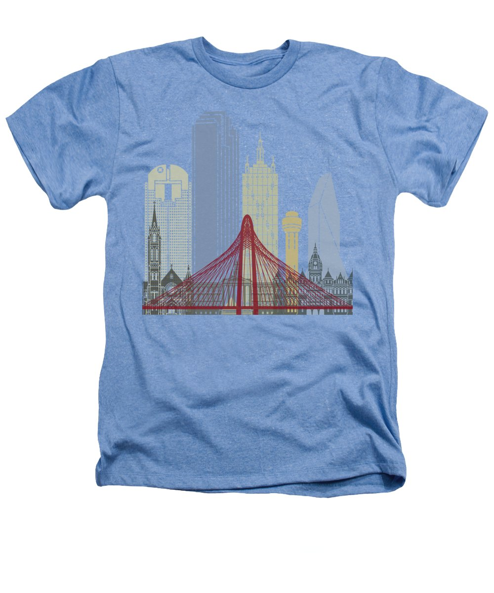 Dallas Skyline Heathers T-Shirts
