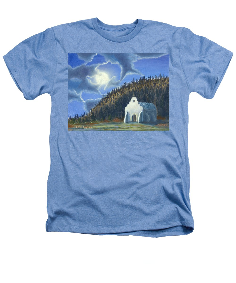 Landscape Heathers T-Shirt featuring the painting Dancing In The Moonlight by Jerry McElroy