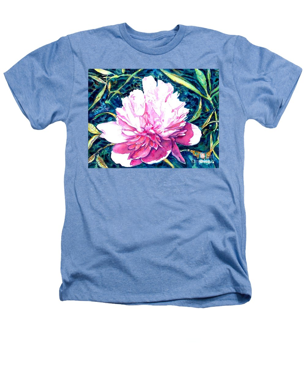 Peony Heathers T-Shirt featuring the painting Delightful Peony by Norma Boeckler
