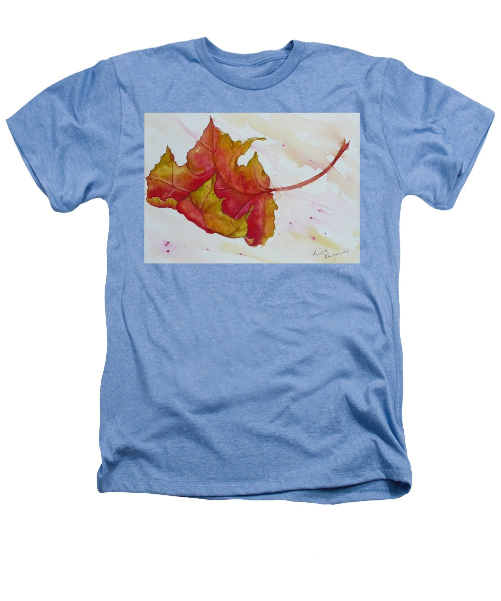 Fall Heathers T-Shirt featuring the painting Descending by Ruth Kamenev