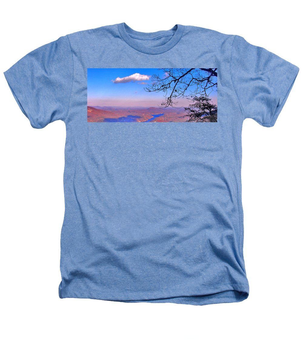 Landscape Heathers T-Shirt featuring the photograph Detail From Reaching For A Cloud by Steve Karol