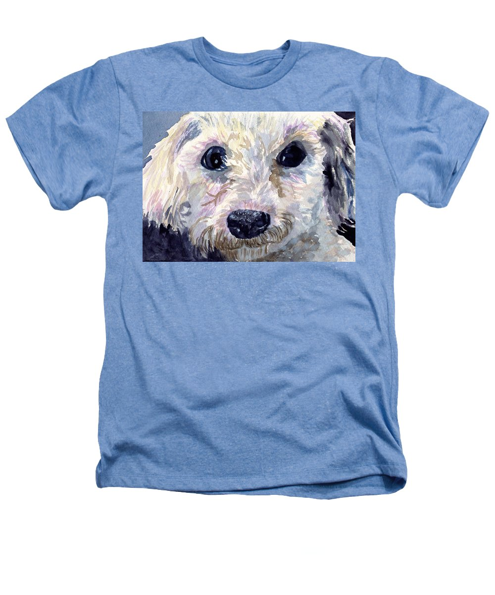 Bichon Frise Heathers T-Shirt featuring the painting Did You Say Lunch by Sharon E Allen