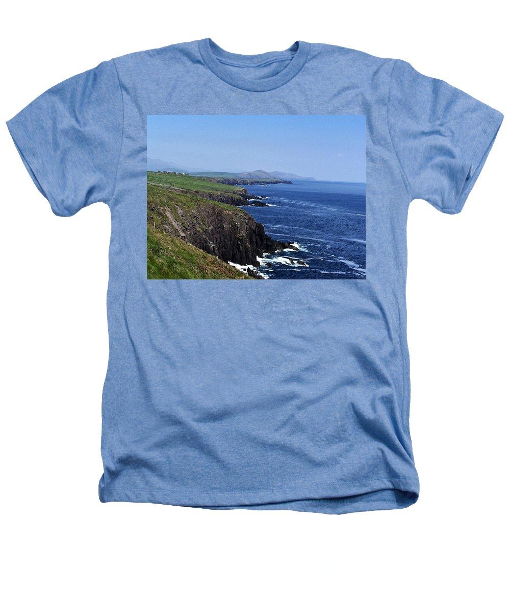 Irish Heathers T-Shirt featuring the photograph Dingle Coast Near Fahan Ireland by Teresa Mucha