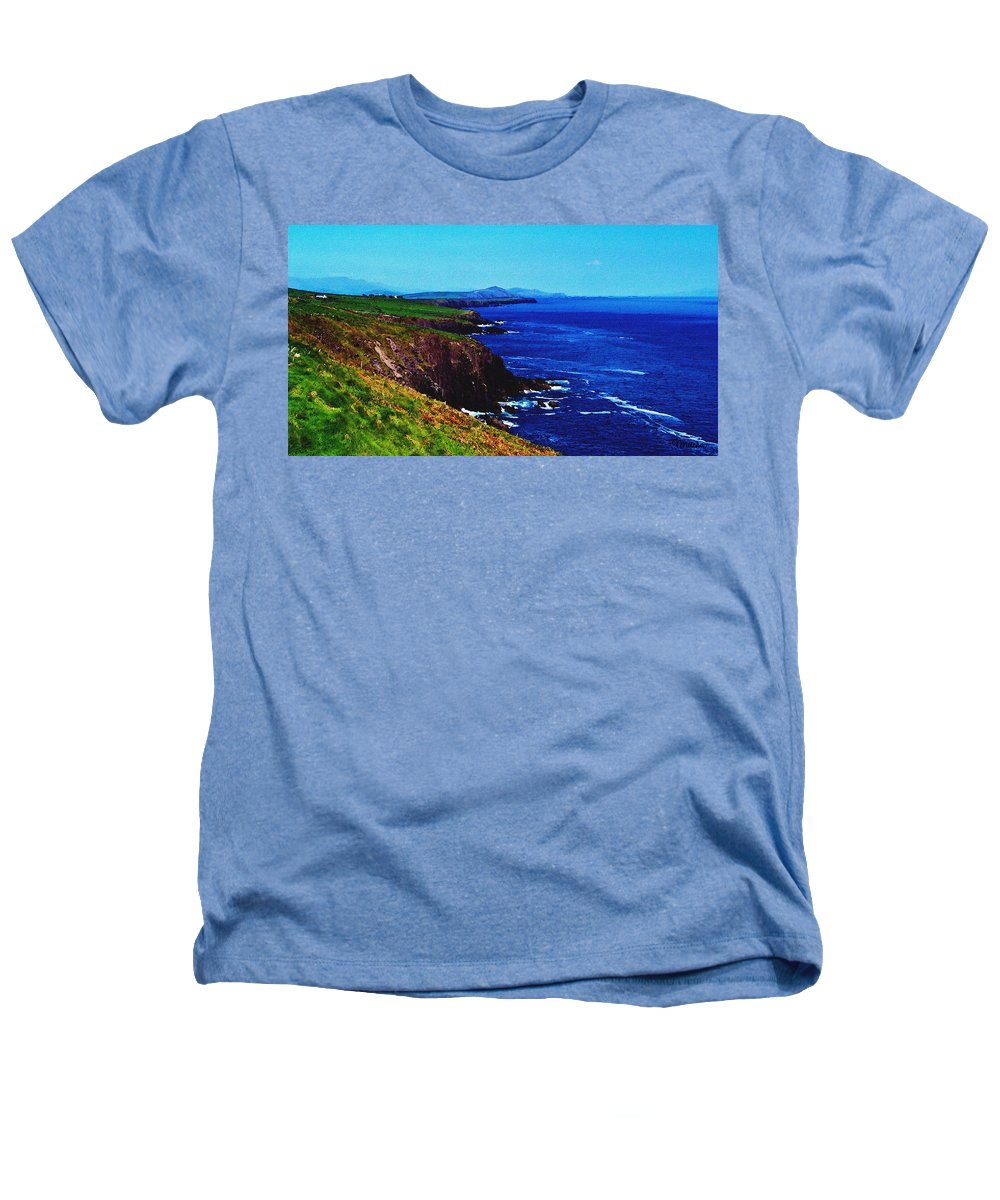 Irish Heathers T-Shirt featuring the digital art Dingle Coastline Near Fahan Ireland by Teresa Mucha