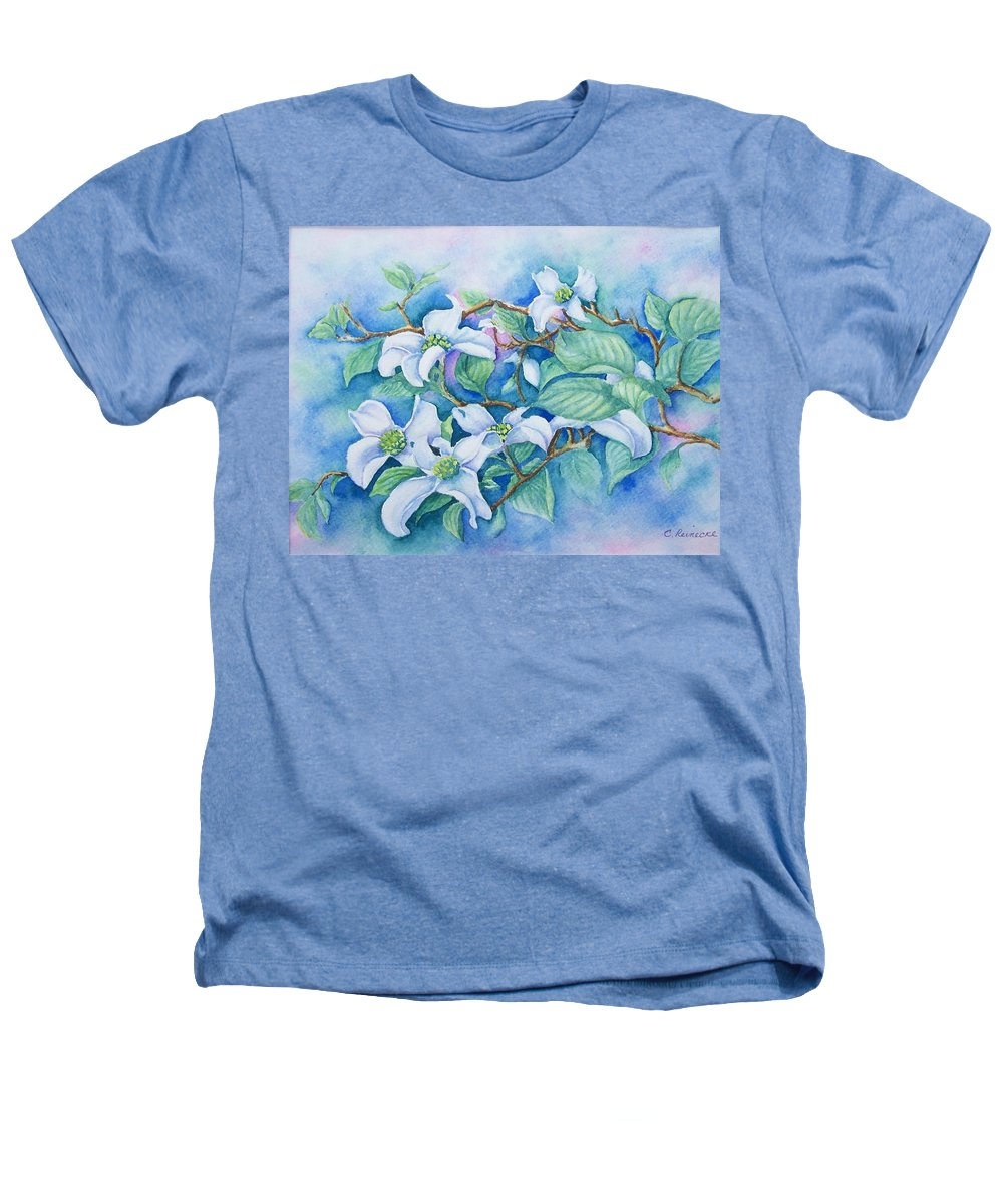 Floral Heathers T-Shirt featuring the painting Dogwood by Conni Reinecke