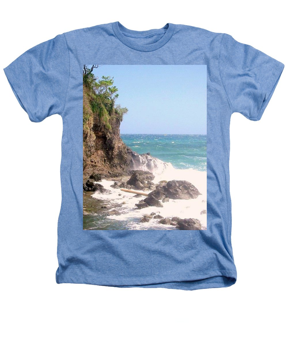 Dominica Heathers T-Shirt featuring the photograph Dominica North Atlantic Coast by Ian MacDonald
