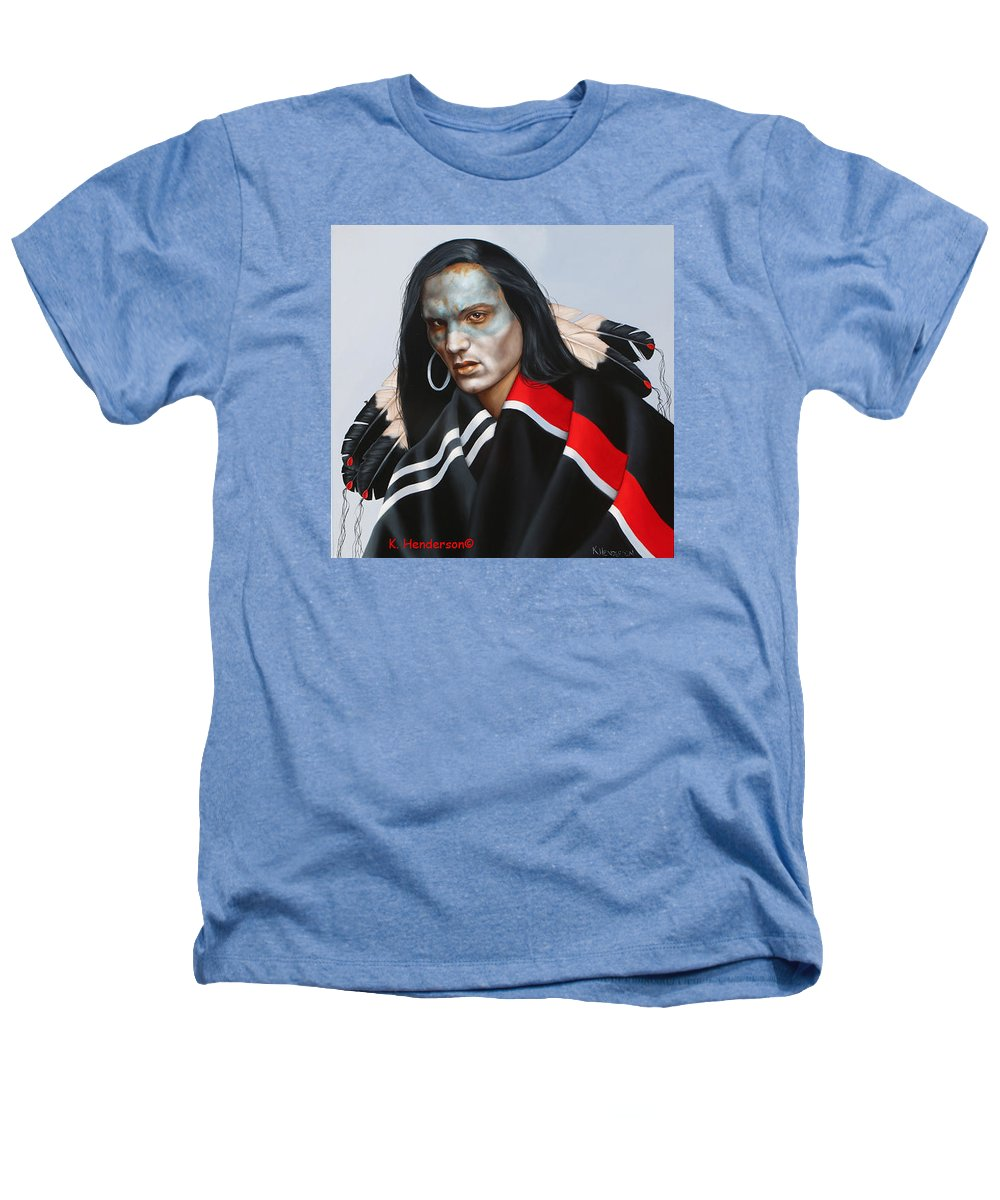 American Indian Heathers T-Shirt featuring the painting Dream Within A Dream by K Henderson