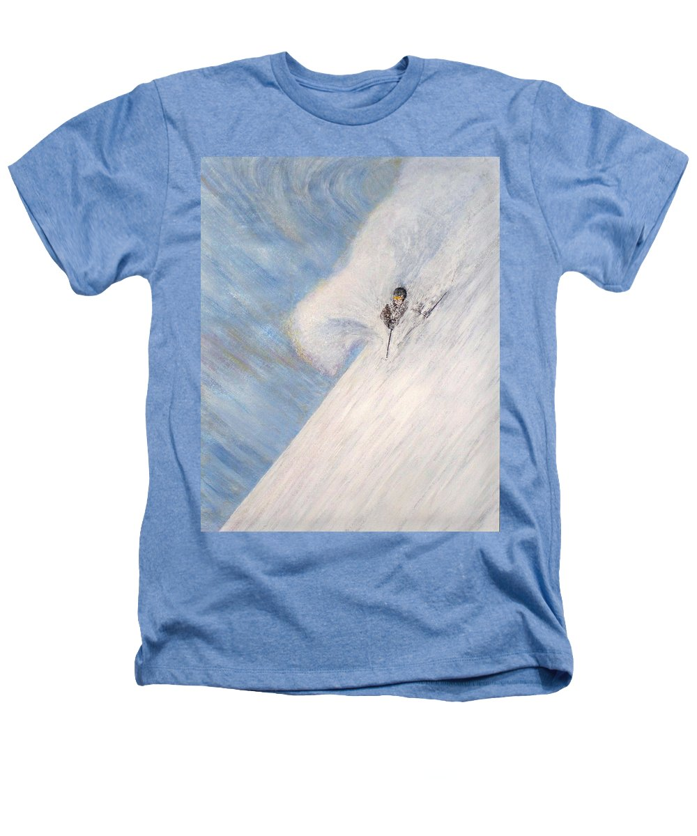 Landscape Heathers T-Shirt featuring the painting Dreamsareal by Michael Cuozzo