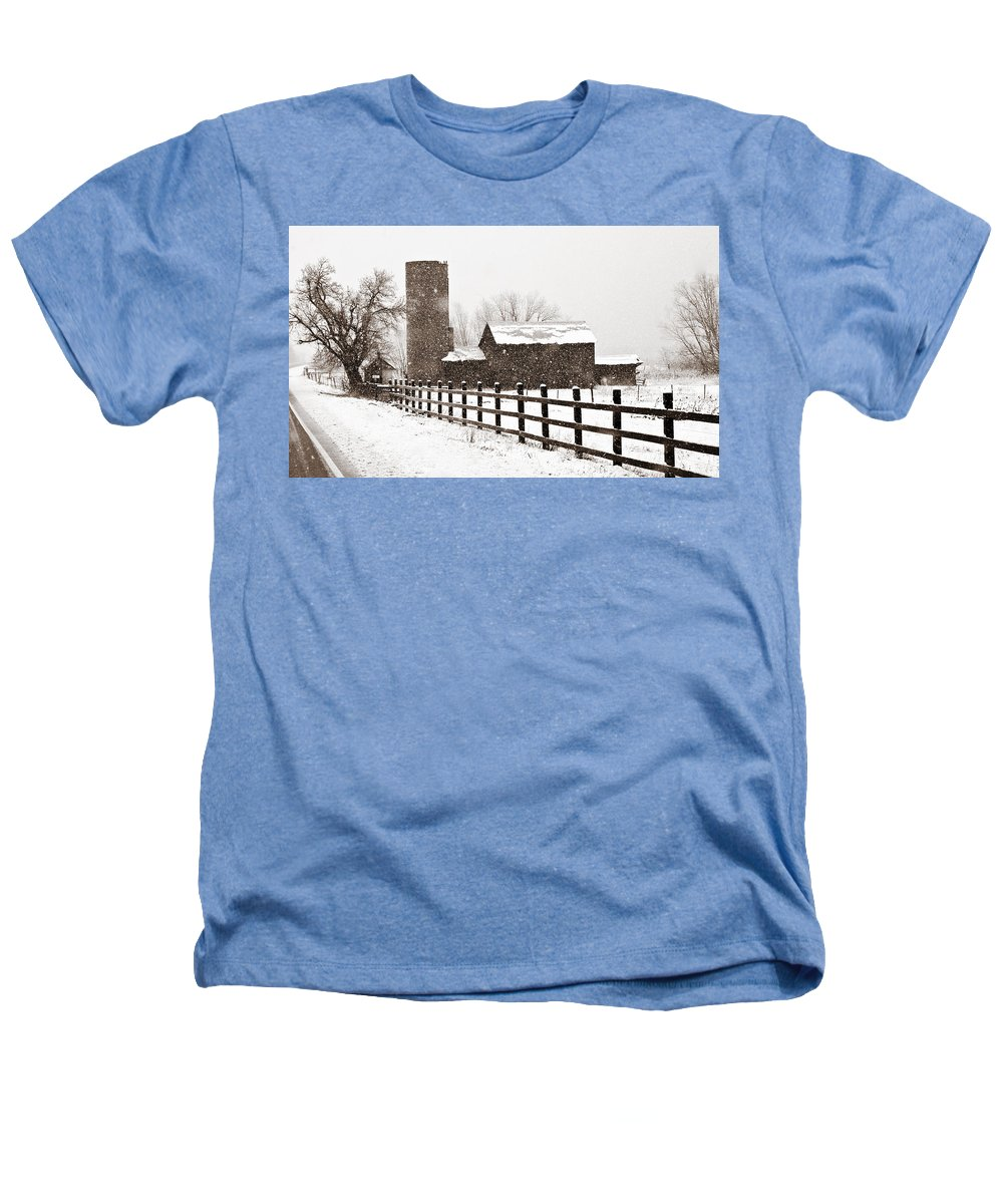 Americana Heathers T-Shirt featuring the photograph Driving Down Cherryvale by Marilyn Hunt