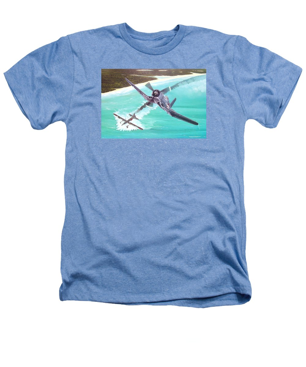 Military Heathers T-Shirt featuring the painting Duel Over New Georgia by Marc Stewart