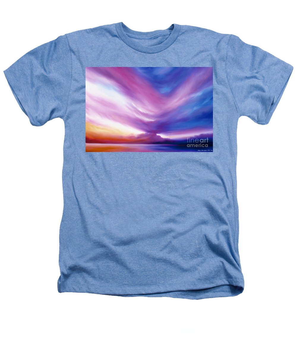 Clouds Heathers T-Shirt featuring the painting Ecstacy by James Christopher Hill