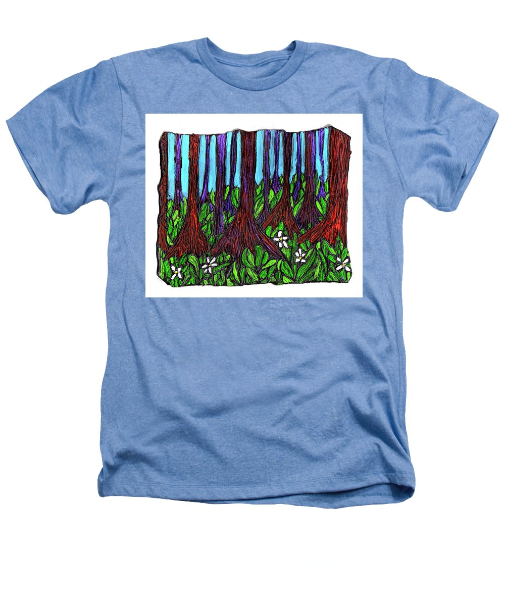 Trees Heathers T-Shirt featuring the painting Edge Of The Swamp by Wayne Potrafka