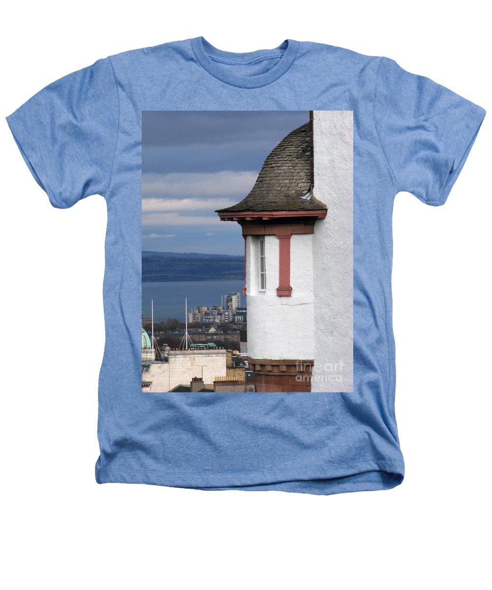 Scotland Heathers T-Shirt featuring the digital art Edinburgh Scotland by Amanda Barcon