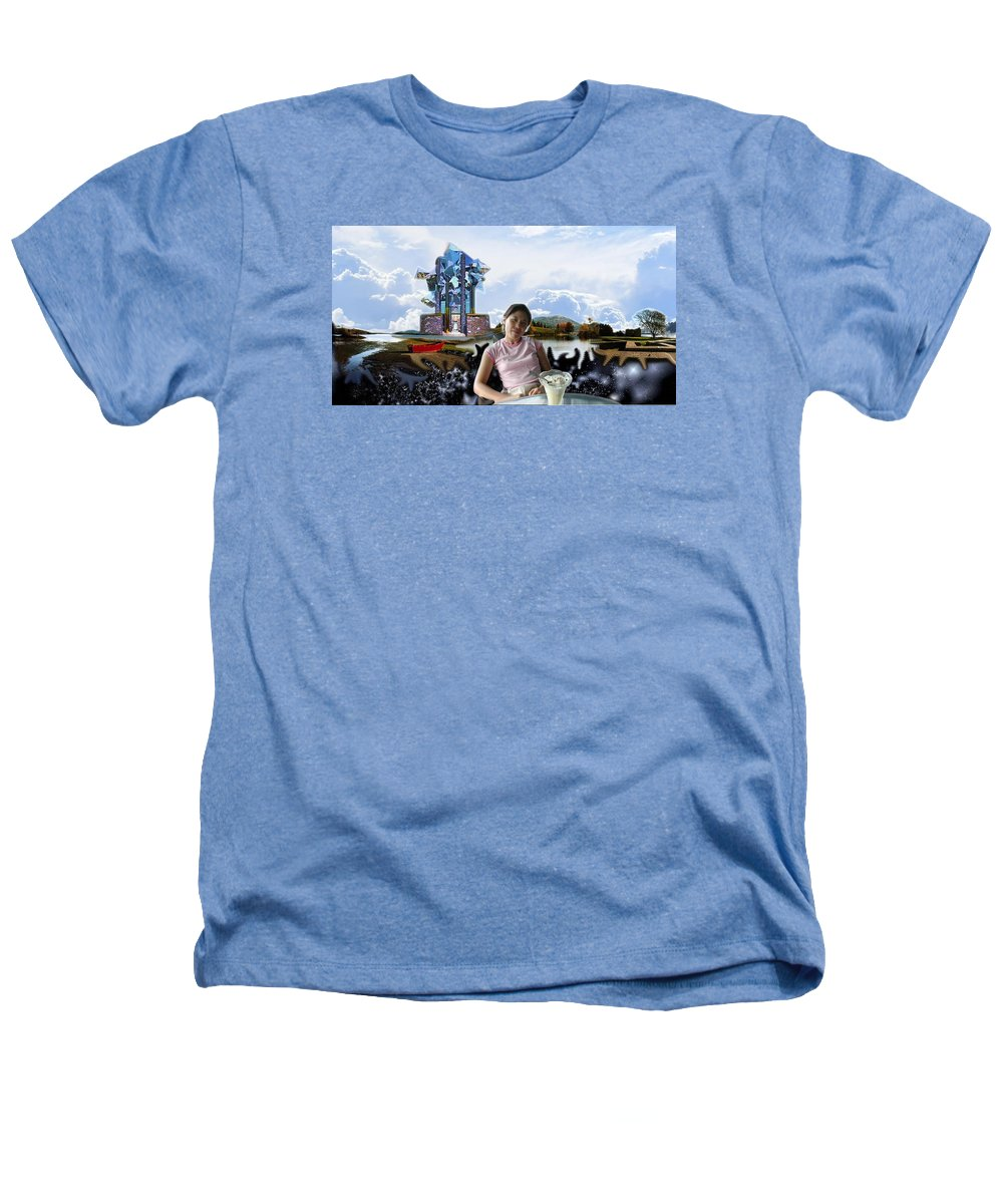 Spacem Maine Heathers T-Shirt featuring the digital art Emma's Afternoon Snack by Dave Martsolf