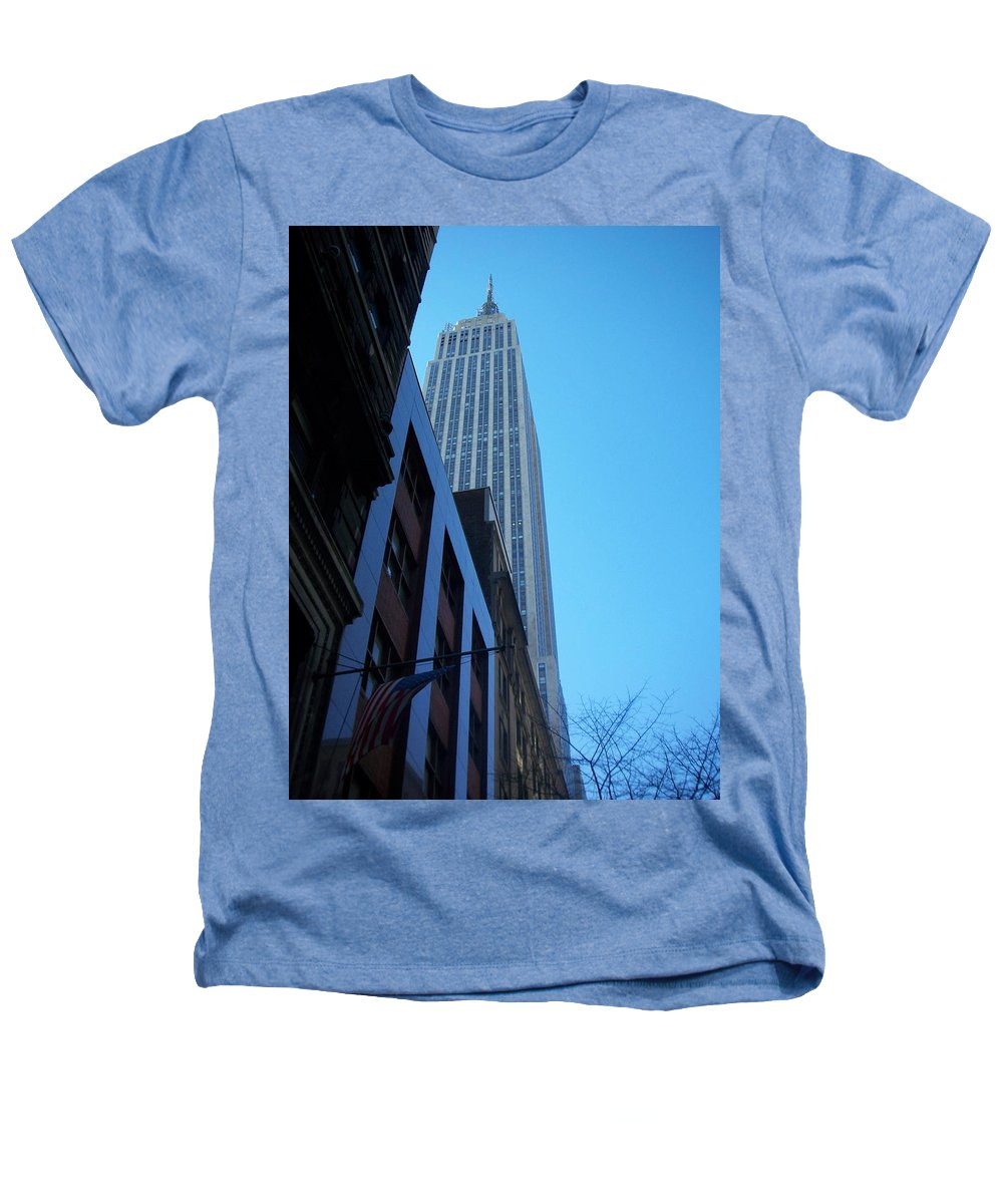 Emoire State Building Heathers T-Shirt featuring the photograph Empire State 1 by Anita Burgermeister