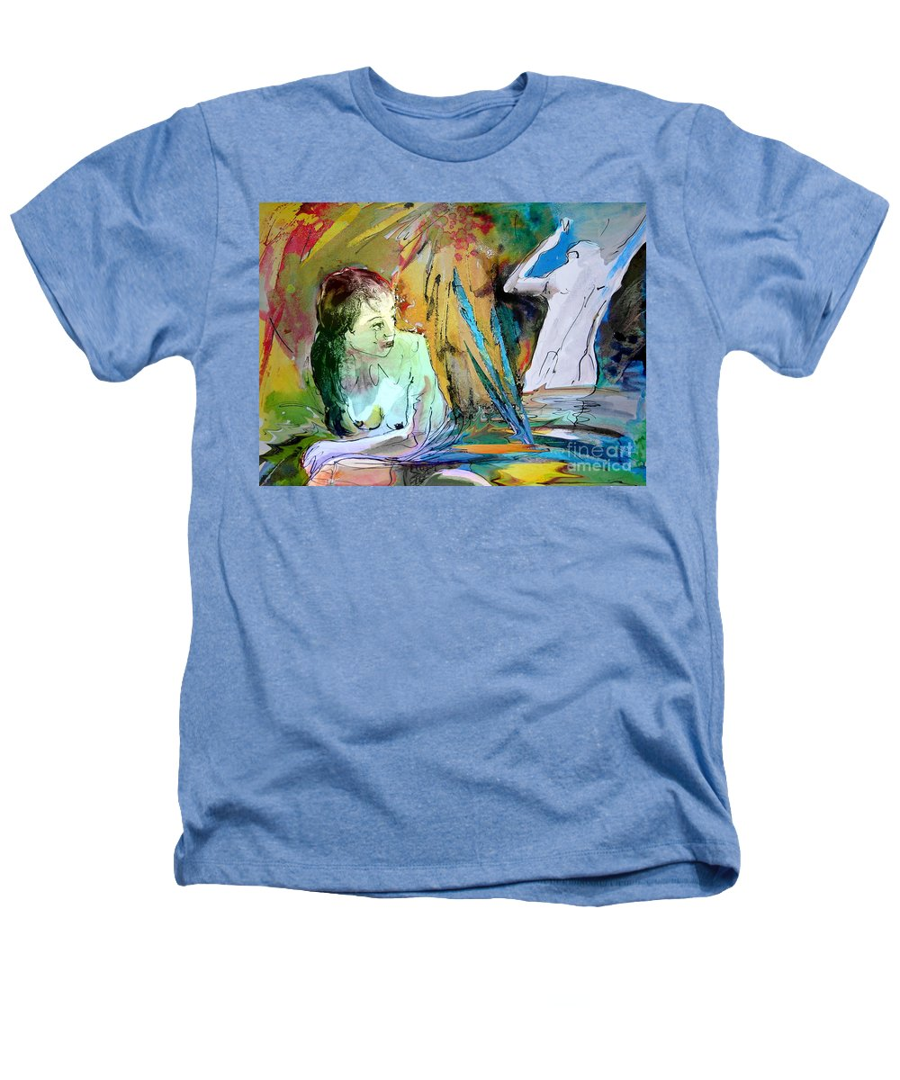 Miki Heathers T-Shirt featuring the painting Eroscape 15 1 by Miki De Goodaboom