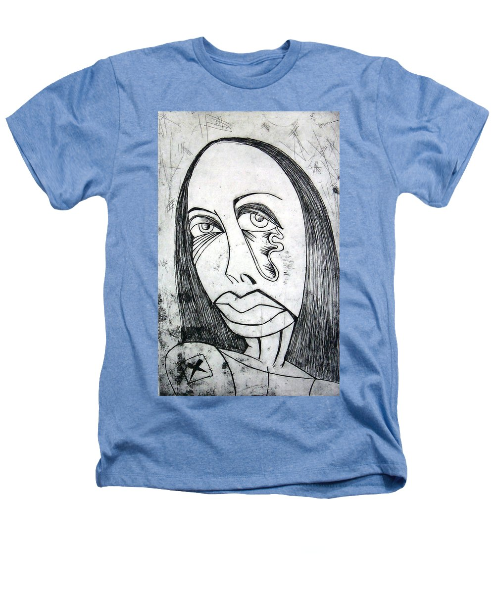 Girl Heathers T-Shirt featuring the print Etching by Thomas Valentine
