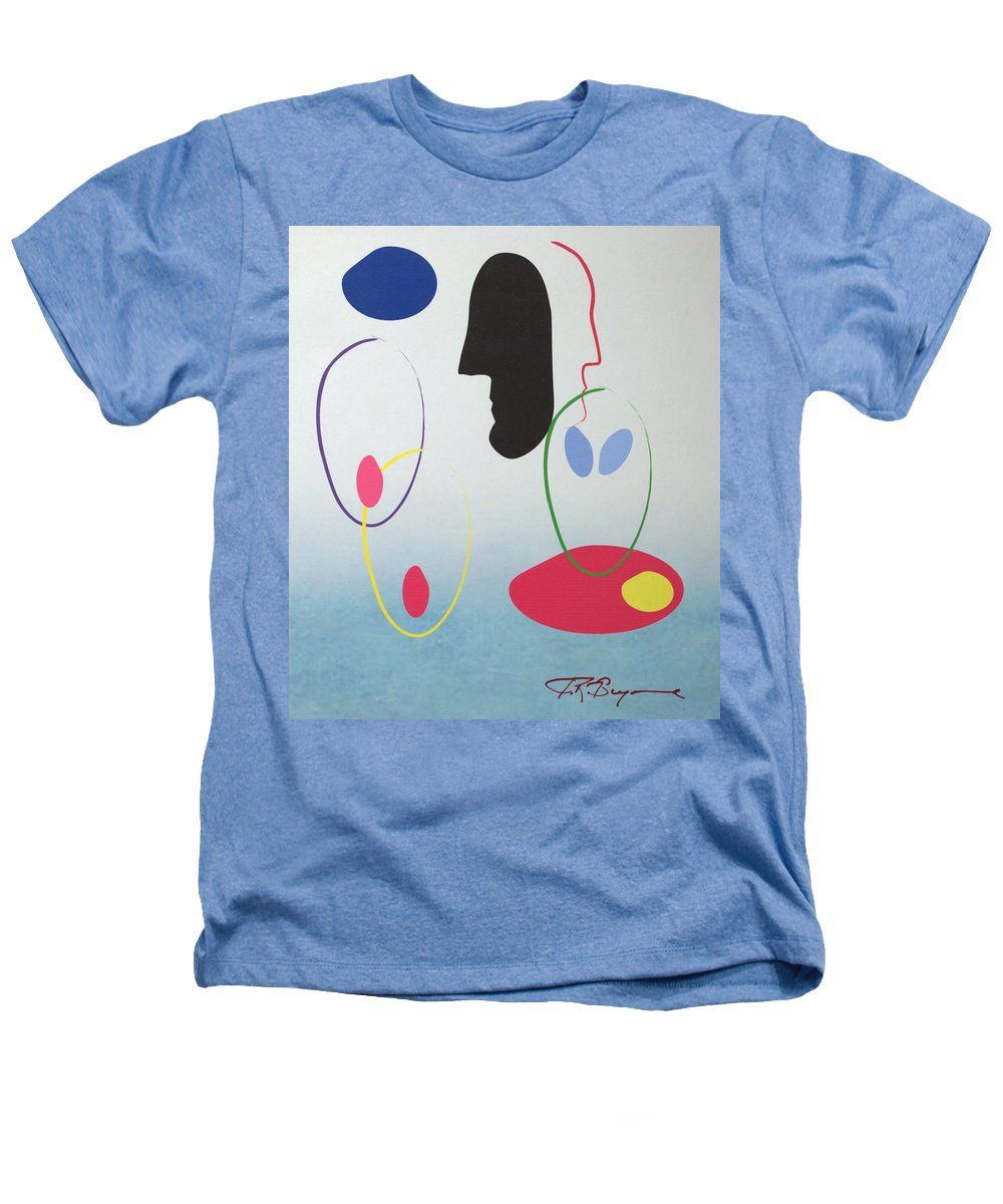Digital Artwork Heathers T-Shirt featuring the digital art Everyones Talking And No One's Listening by J R Seymour