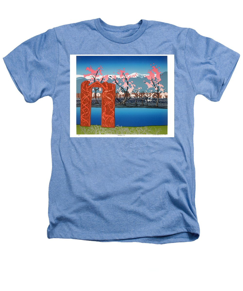 Landscape Heathers T-Shirt featuring the mixed media Exploration. by Jarle Rosseland