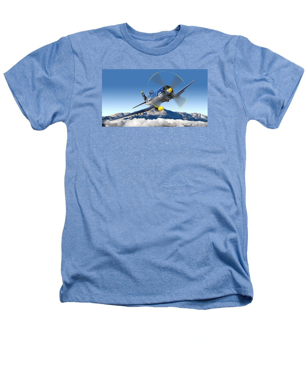 F4-u Corsair Heathers T-Shirt featuring the photograph F4-u Corsair by Larry McManus