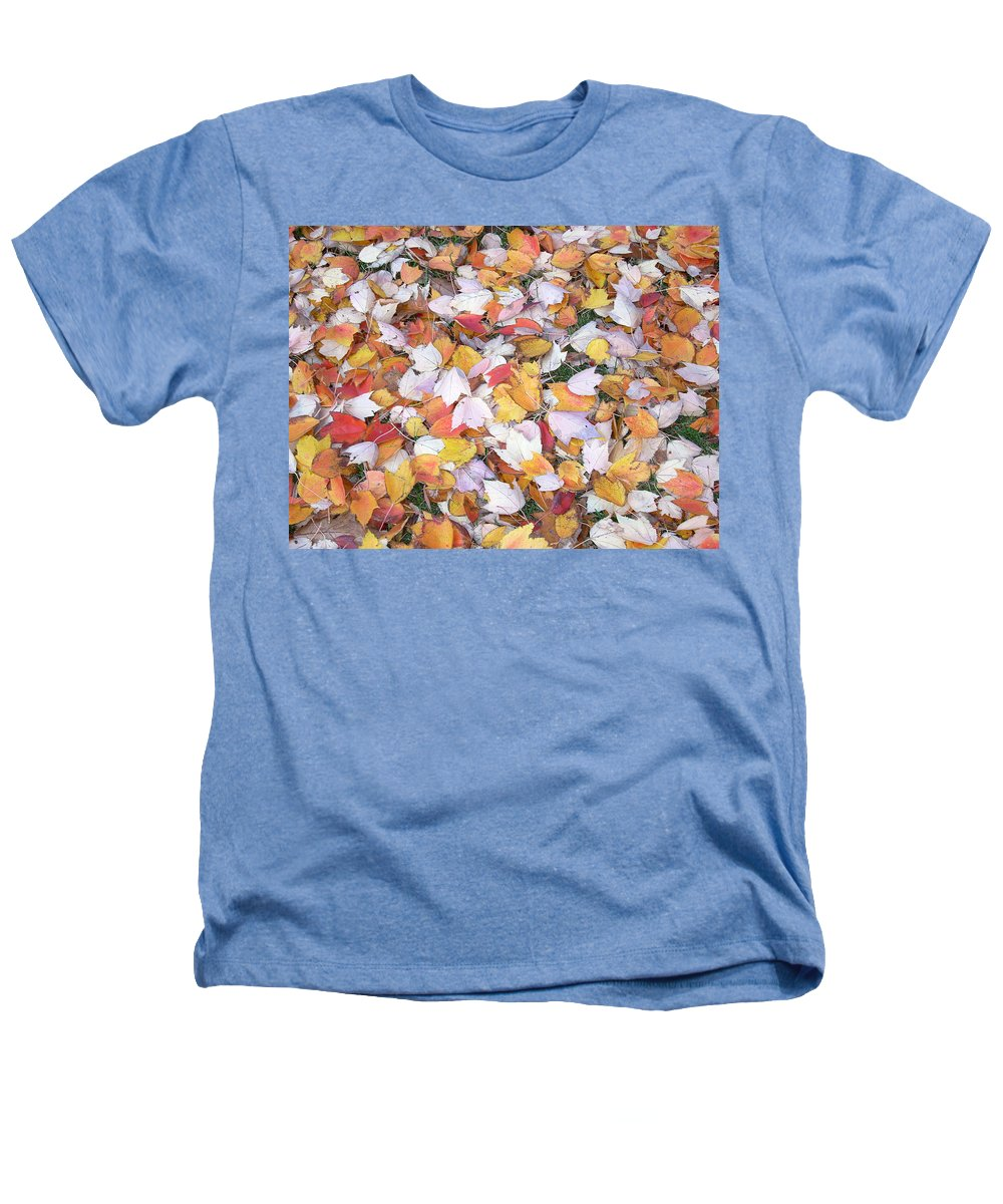 Photography Fall Autum Leaves Heathers T-Shirt featuring the photograph Fallen Fantasy by Karin Dawn Kelshall- Best