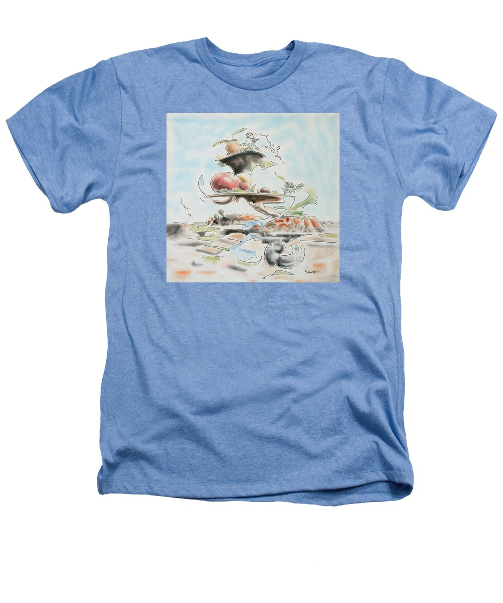 Abstract Heathers T-Shirt featuring the painting Fast Food by Dave Martsolf