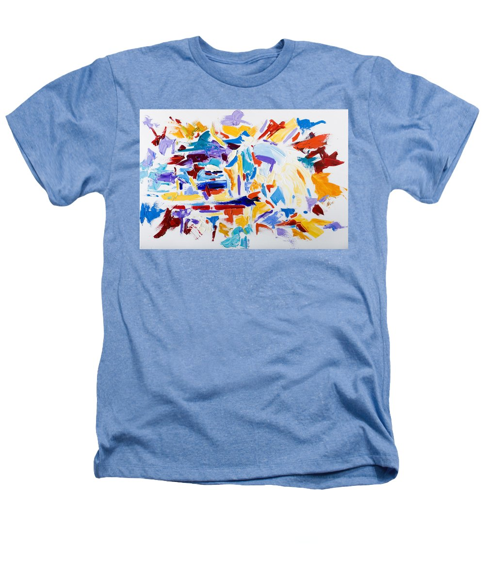 Abstract Yellow Heathers T-Shirt featuring the painting Fiesta by Shannon Grissom