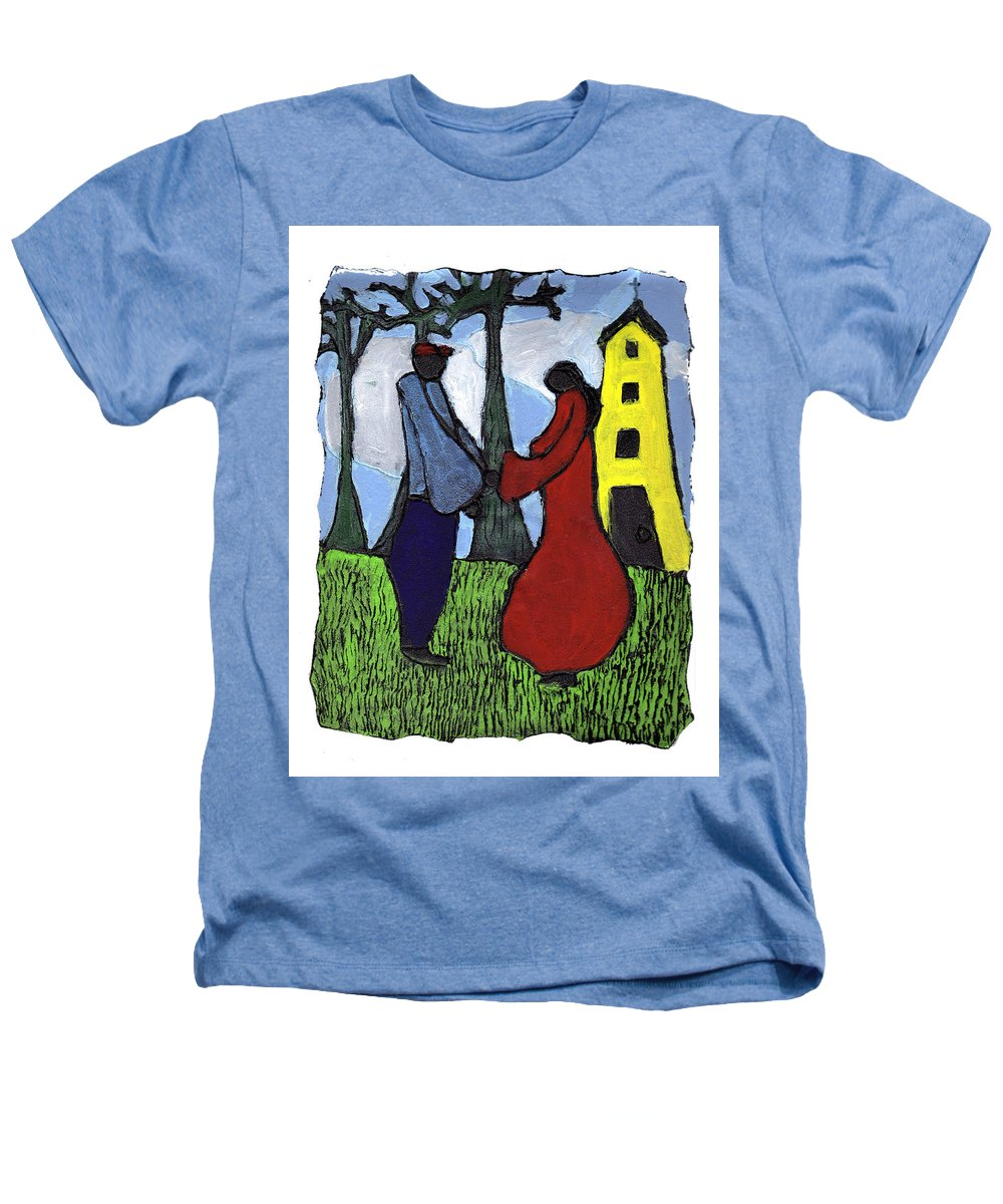 Love Heathers T-Shirt featuring the painting First Love by Wayne Potrafka