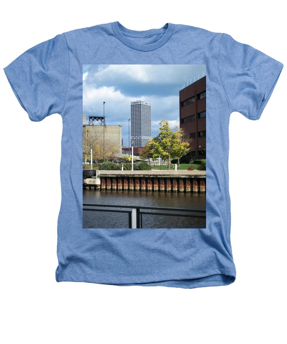 First Star Bank Heathers T-Shirt featuring the photograph First Star Tall View From River by Anita Burgermeister