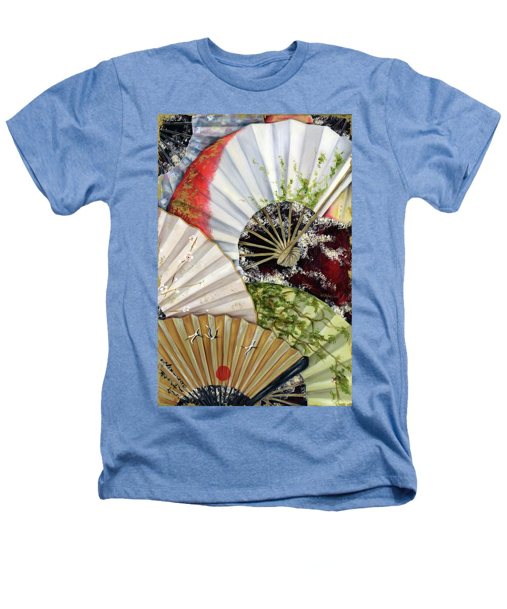 Japanese Heathers T-Shirt featuring the painting Flower Garden by Hiroko Sakai