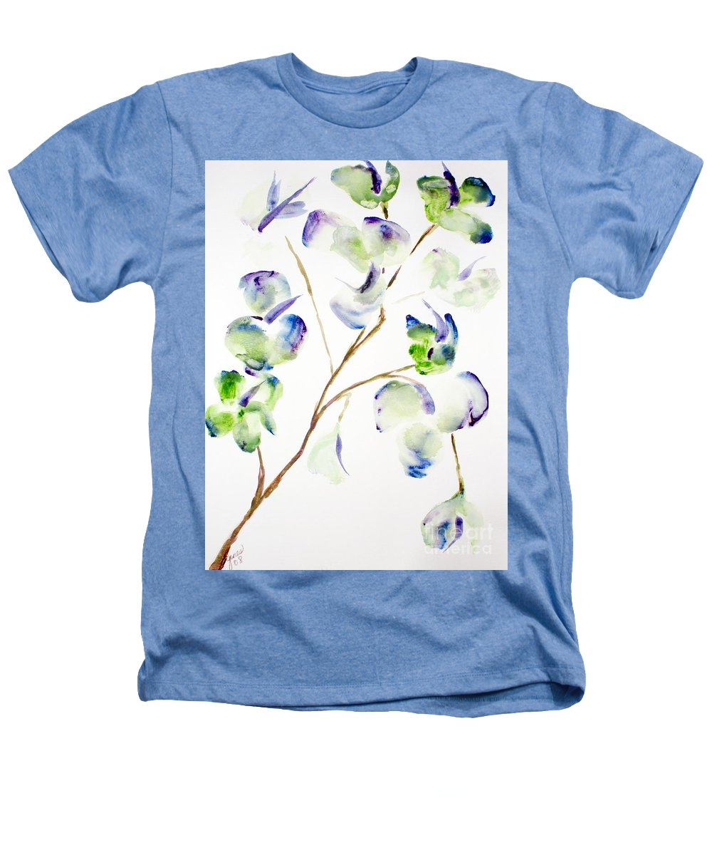 Flower Heathers T-Shirt featuring the painting Flower by Shelley Jones