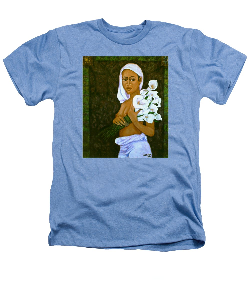 Love Heathers T-Shirt featuring the painting Flowers For An Old Love by Madalena Lobao-Tello