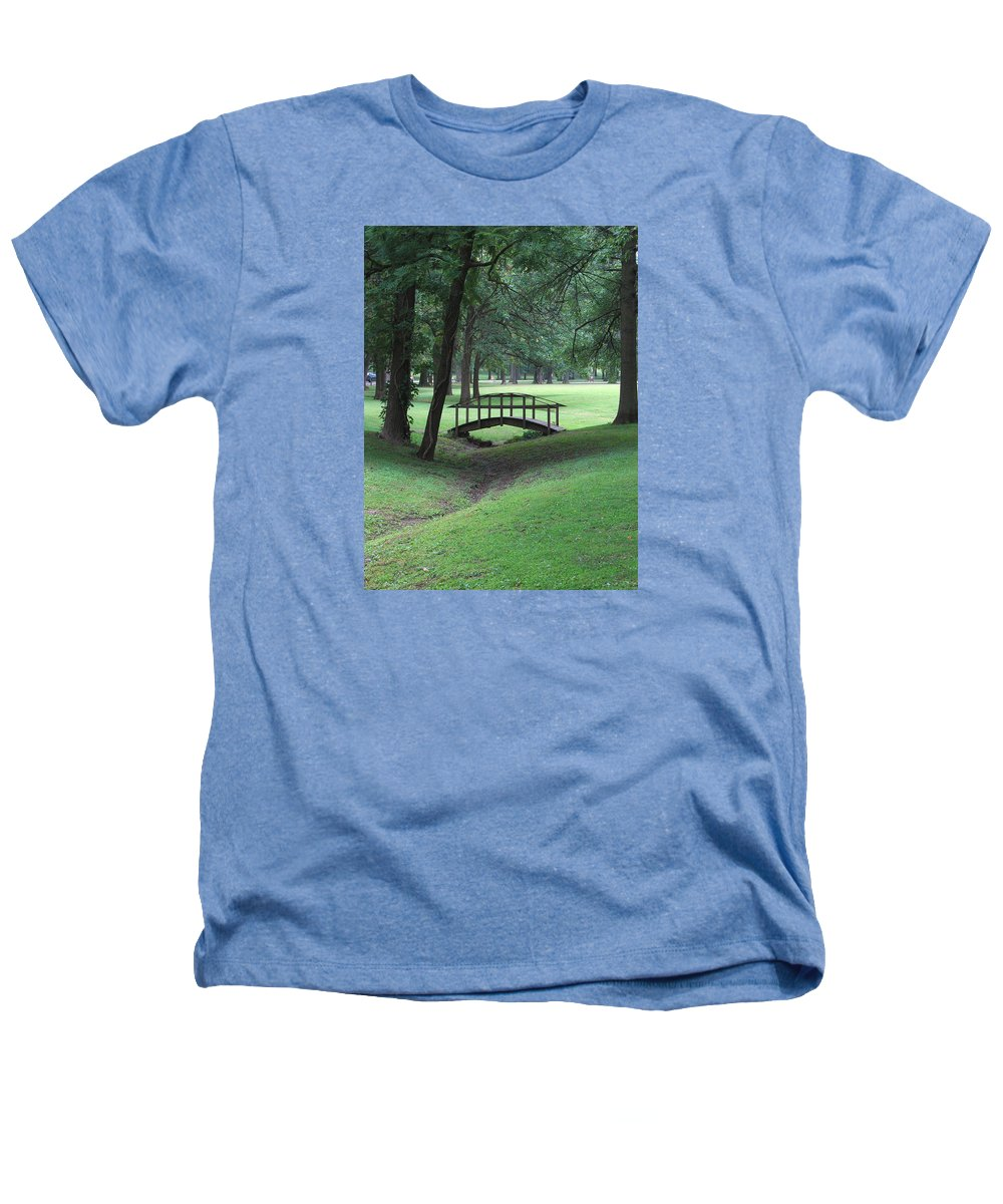 Bridge Heathers T-Shirt featuring the photograph Foot Bridge In The Park by J R Seymour