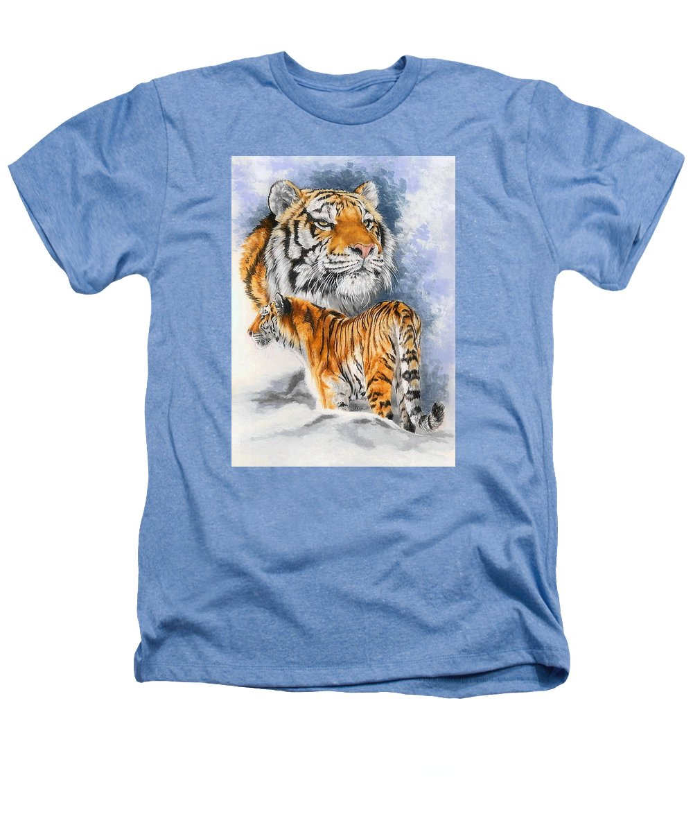 Big Cats Heathers T-Shirt featuring the mixed media Forceful by Barbara Keith