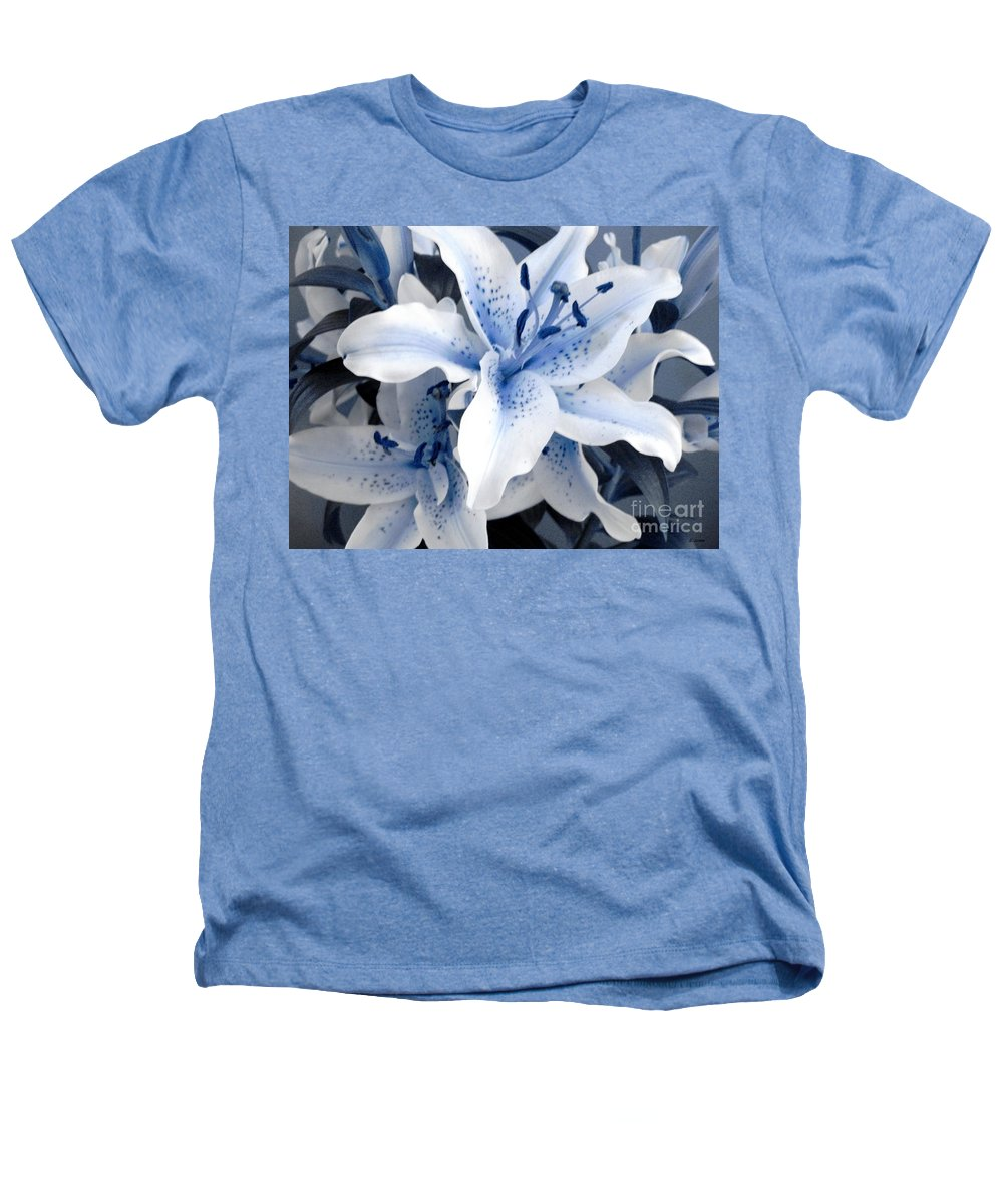 Blue Heathers T-Shirt featuring the photograph Freeze by Shelley Jones