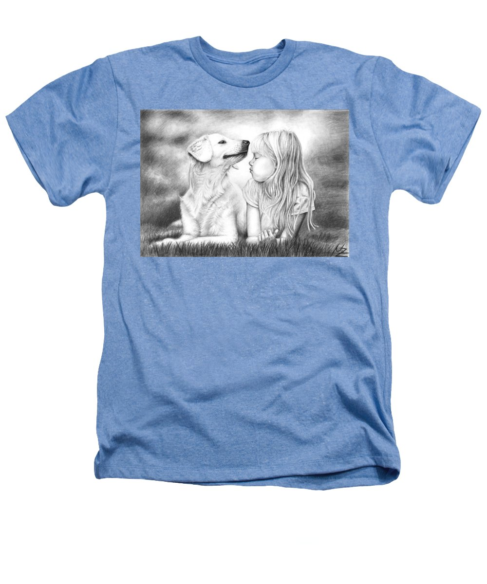 Dog Heathers T-Shirt featuring the drawing Friends by Nicole Zeug