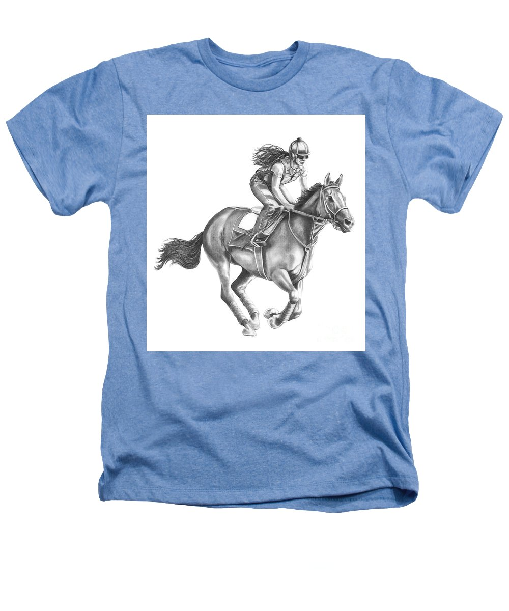 Horse Heathers T-Shirt featuring the drawing Full Gallop by Murphy Elliott