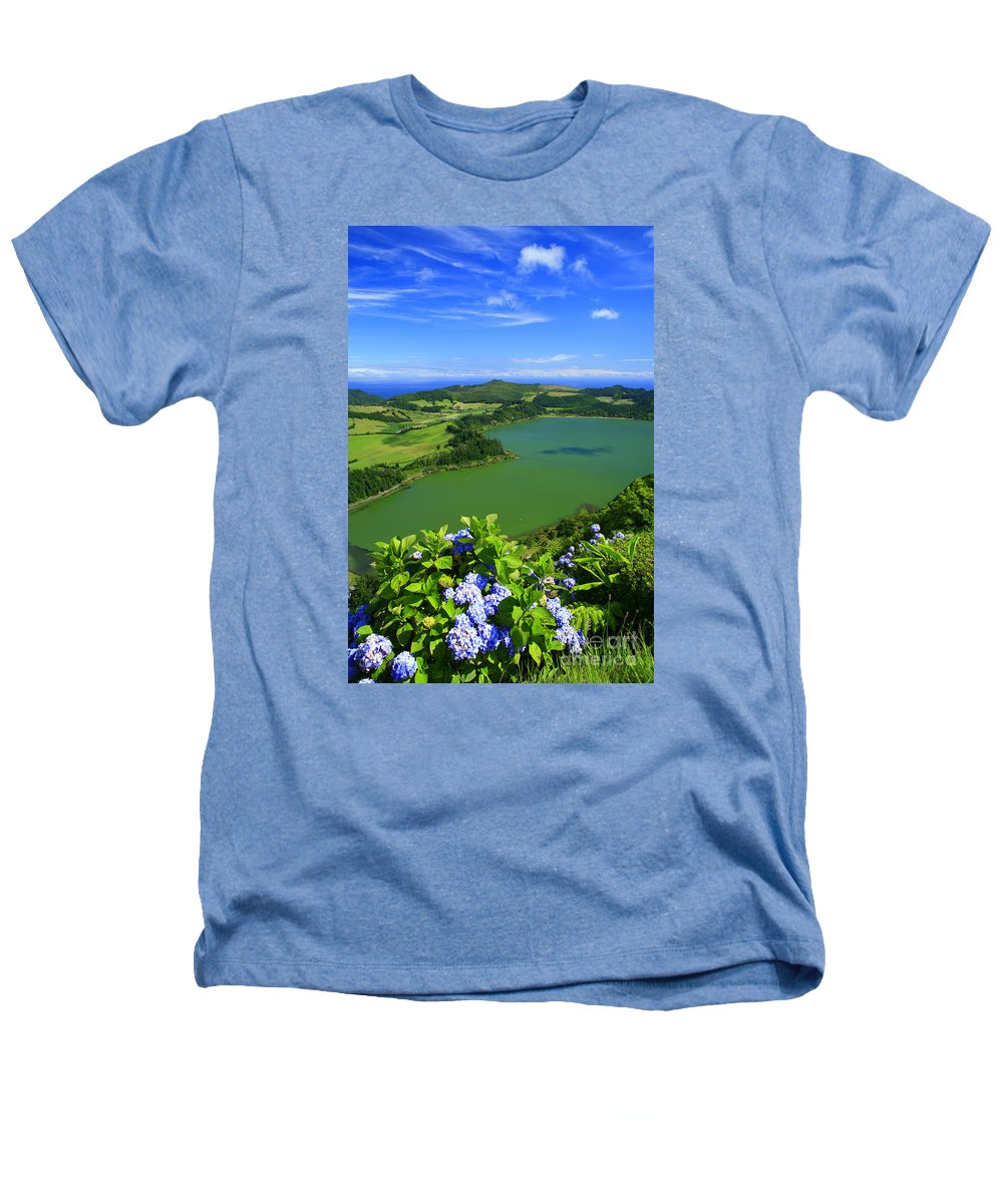 Azores Heathers T-Shirt featuring the photograph Furnas Lake by Gaspar Avila
