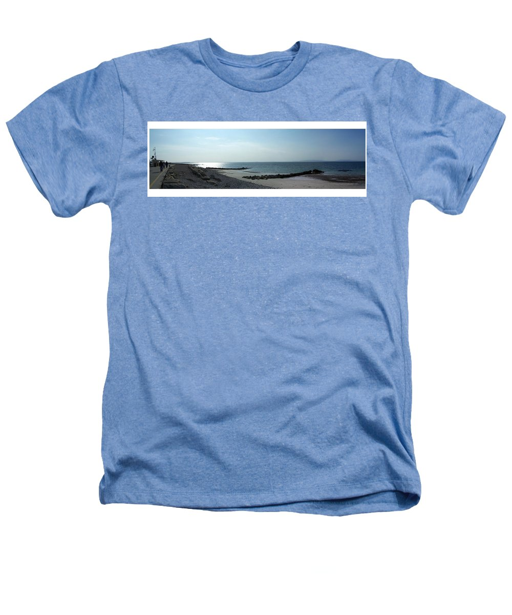 Irish Heathers T-Shirt featuring the photograph Galway Bay At Salt Hill Park Galway Ireland by Teresa Mucha