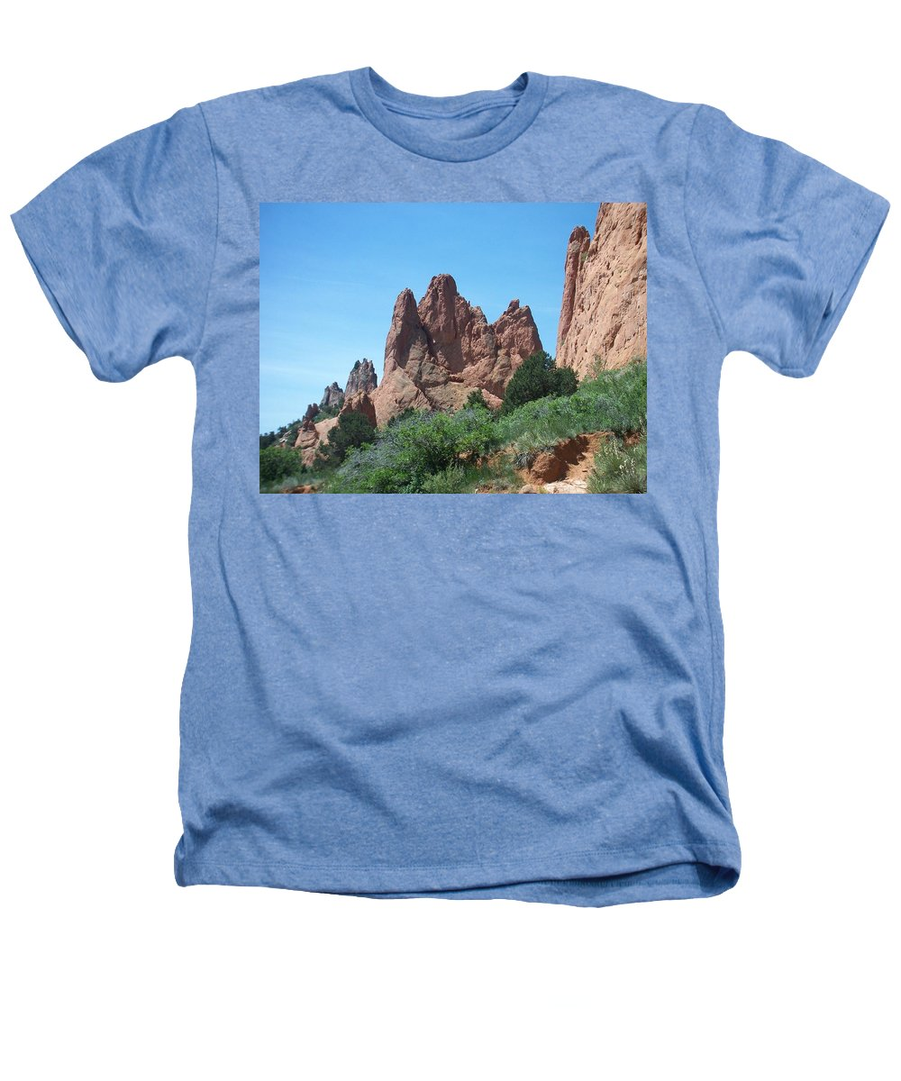 Colorado Heathers T-Shirt featuring the photograph Garden Of The Gods 2 by Anita Burgermeister