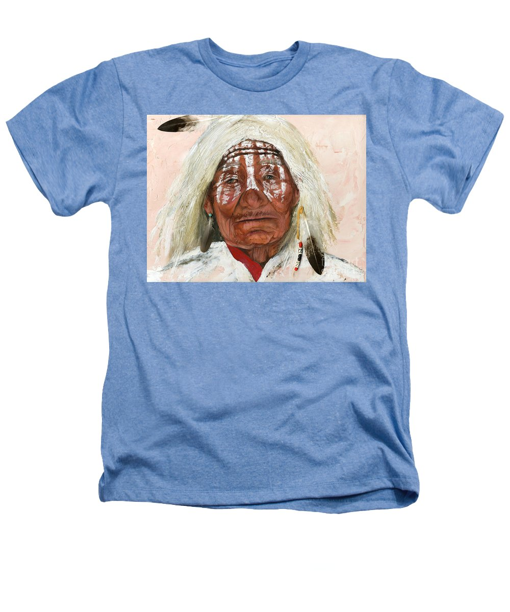 Southwest Art Heathers T-Shirt featuring the painting Ghost Shaman by J W Baker
