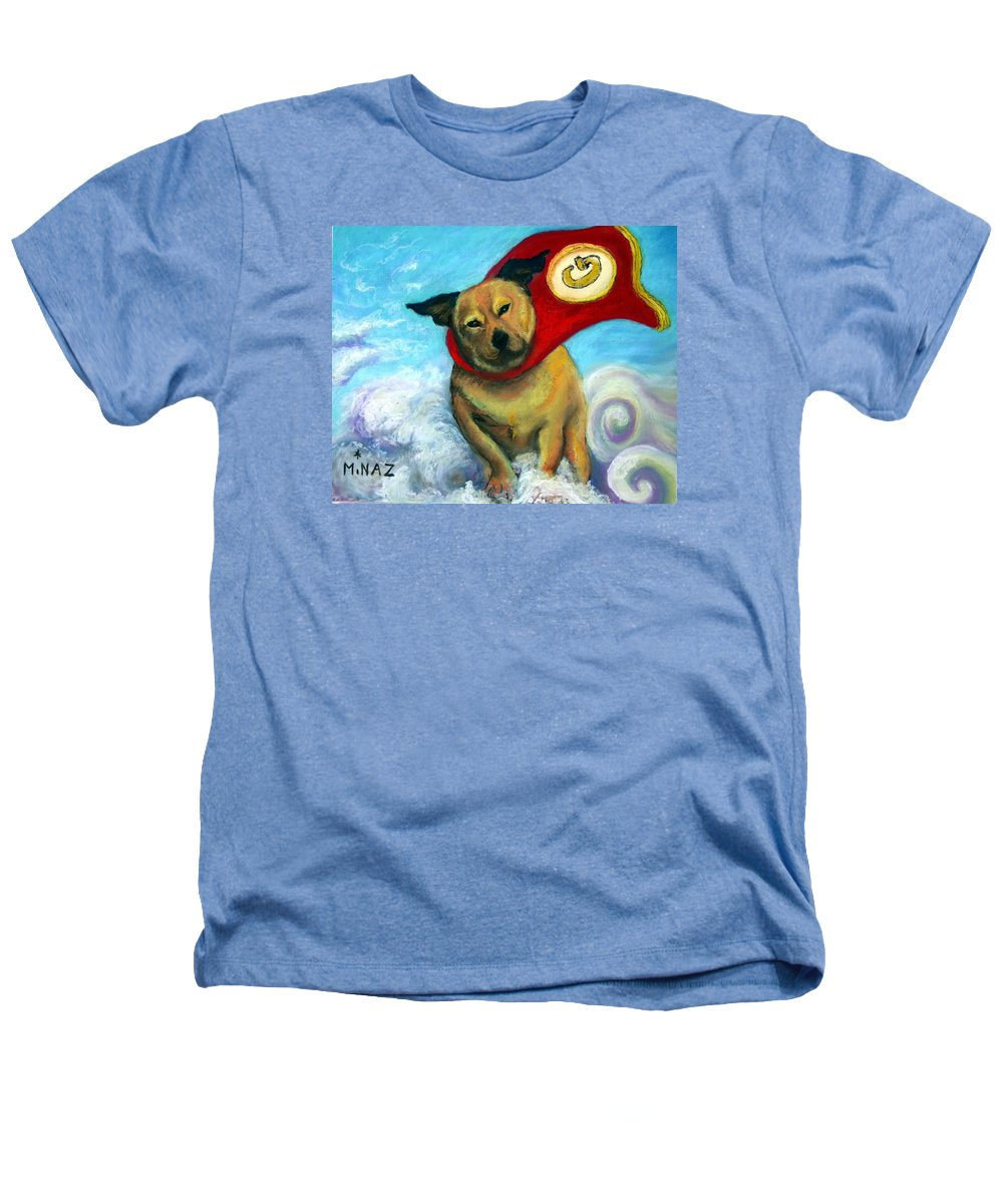 Dog Heathers T-Shirt featuring the painting Gizmo The Great by Minaz Jantz