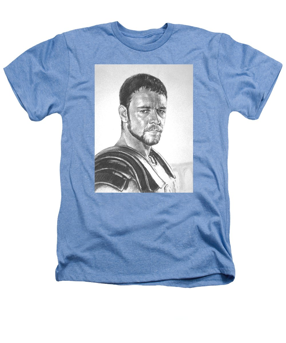 Portraits Heathers T-Shirt featuring the drawing Gladiator by Iliyan Bozhanov