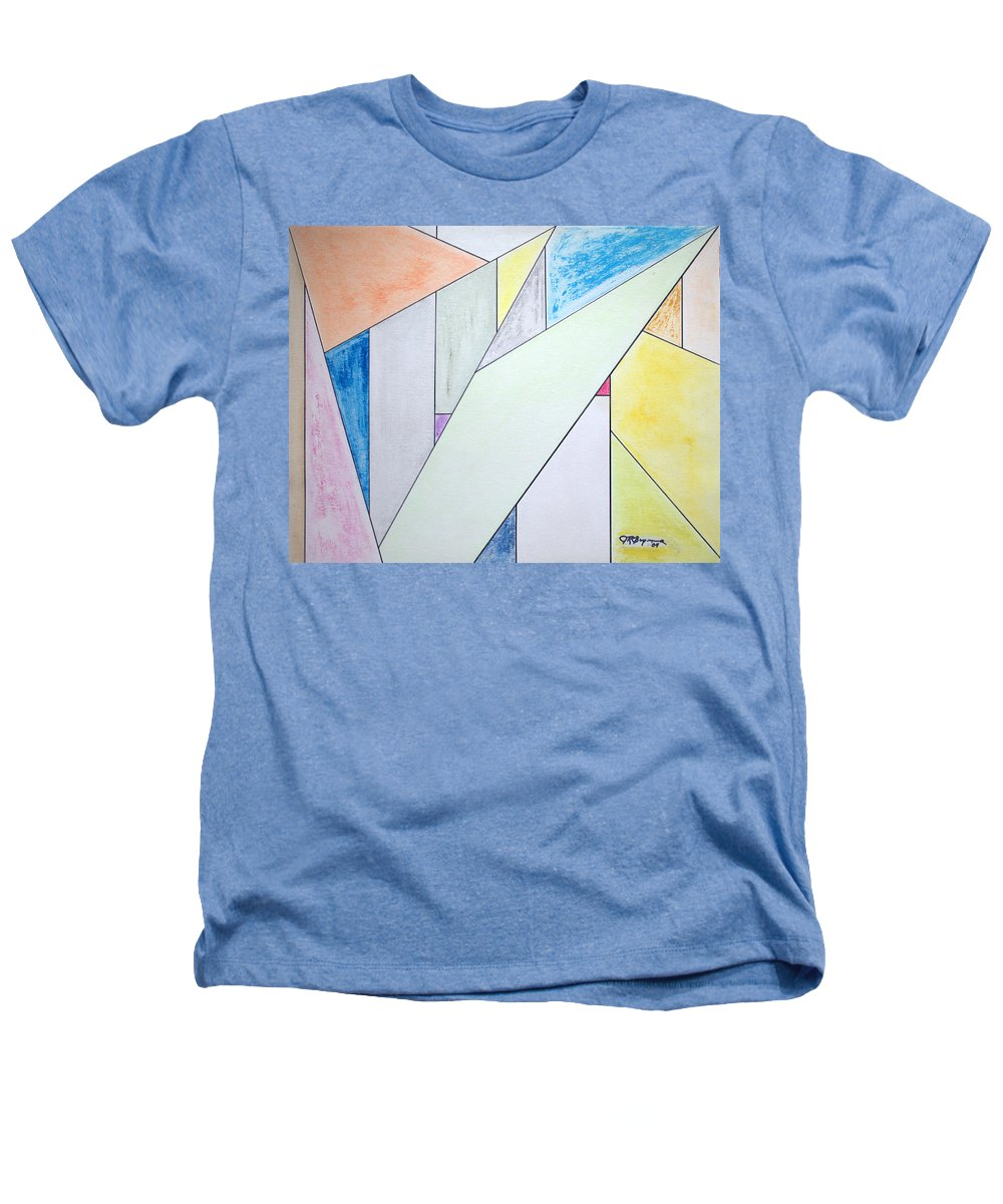 Buildings Heathers T-Shirt featuring the mixed media Glass-scrapers by J R Seymour