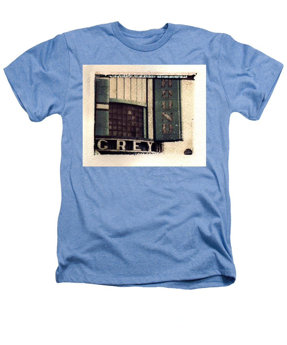 Polaroid Transfer Heathers T-Shirt featuring the photograph Go Greyhound And Leave The Driving To Us by Jane Linders