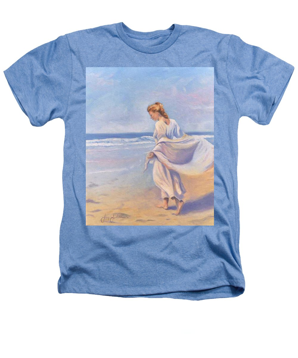 Beach Heathers T-Shirt featuring the painting Golden Girls by Jay Johnson