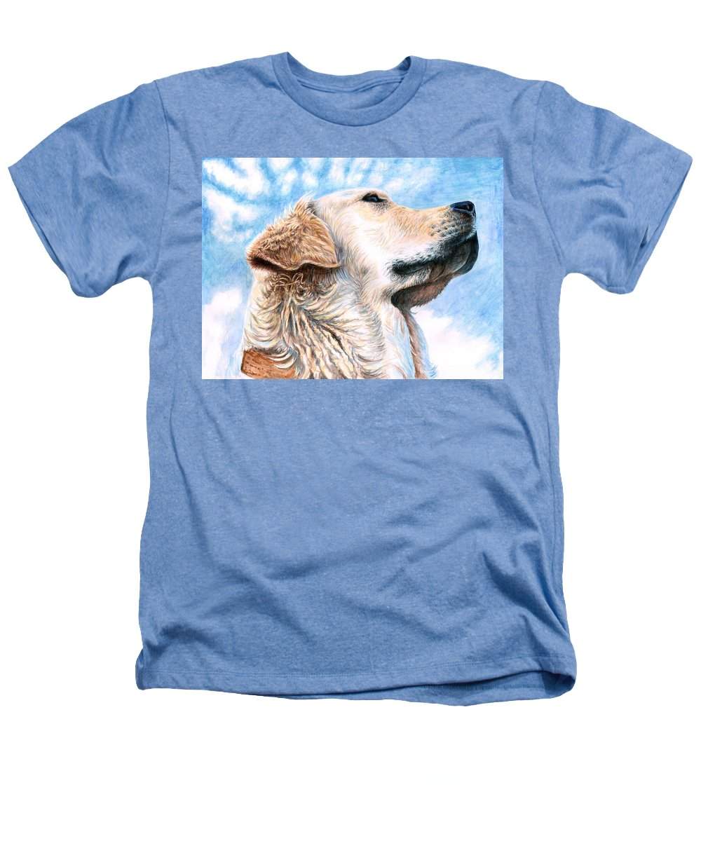 Dog Heathers T-Shirt featuring the painting Golden Retriever by Nicole Zeug
