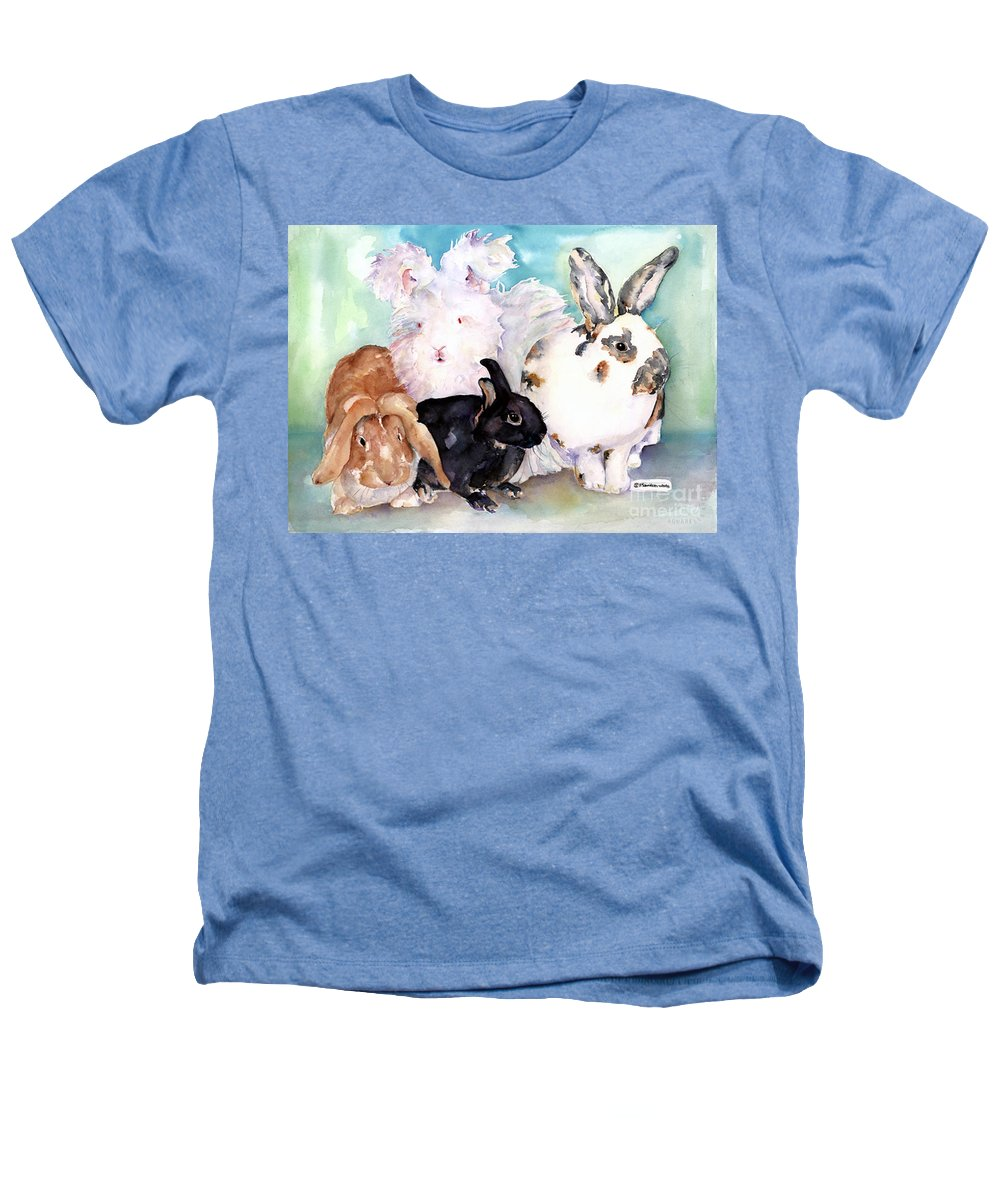 Animal Artwork Heathers T-Shirt featuring the painting Good Hare Day by Pat Saunders-White